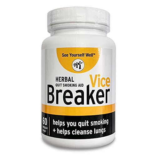 Vice Breaker: Quit Smoking for The Last Time. Works Fast - Stop Smoking Within 30 Days. Or Take with Nicorette, NicoDerm and Other Nicotine Gums, Patches or Lozenges.100% Natural & Herbal