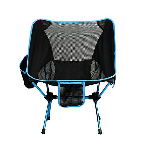 JIAX Camping klapstoel, draagriem met hoge rugleuning, draagtas, outdoor, gazon, tuin, licht aluminium frame, ondersteuning 200 kg, camping en outdoor-activiteiten