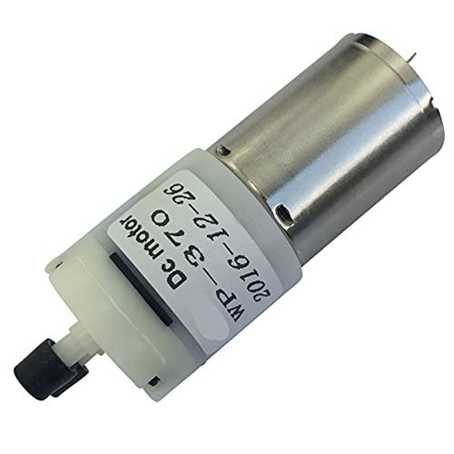 Sankuai 1pc 12V DC Pequeña 370 Micro Bomba de Agua con Motor DC Bajo Ruido Flow Grande para el Flujo de Agua Potable 0.4-1.2L / Min Bomba de vacío (tamaño : 12V)