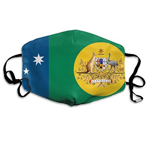 Nieuwe Australische Vlag Unisex Full-Coverage Buis Gezicht Masker Bandanas UV Bescherming Hals Gaiter Hoofdband