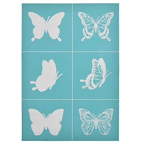 YeulionCraft DIY Self-Adhesive Silk Screen Stencil Printing Mesh Transfers for Home Decoration Wooden Board,T-Shirt,Pillow Fabric,Painting, 29.7 x21cm Butterfly