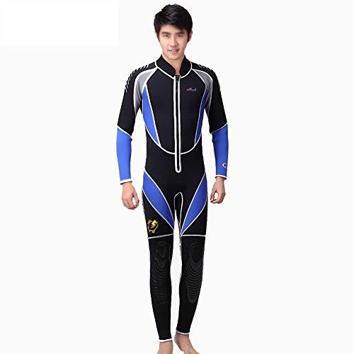 Mannen Wetsuit, 3 mm neopreenpak eendelig wetsuit voor heren met lange mouwen en ritssluiting. Warm surf-snorkelpak, aanbieding voor beginners en sportfans.
