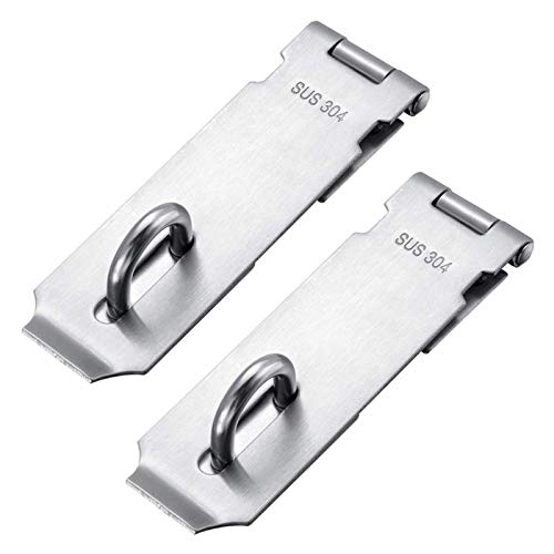 Padlock Hasp Staple 2 Pack Heavy Duty Safety Door Clasp Gate Lock Latch Stainless Steel Padlock Clasp Shed