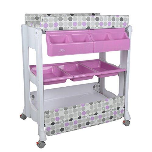 GUO@ Bébé table à langer/multifonction en plastique Nursing Desk Baby Touch Massage lit douche Stand Table de finition Convient pour 0~2 ans bébé violet/rouge/gris/jaune quatre couleurs en o