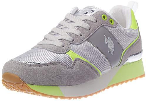 U.S. POLO ASSN. Tabitha4 Met, Sneaker Donna, Multicolore (Li Gr/YEL 056), 37 EU