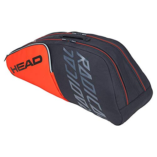 Head Radical 6R - Borsa da tennis Combi (arancione/grigio)