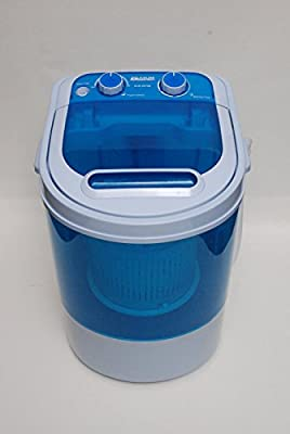 LEISURE DIRECT ® MINI PORTABLE 230V 3KG CAPACITY WASHING MACHINE IDEAL FOR OUTDOOR GARDEN CAMPING WITH SPIN DRYER