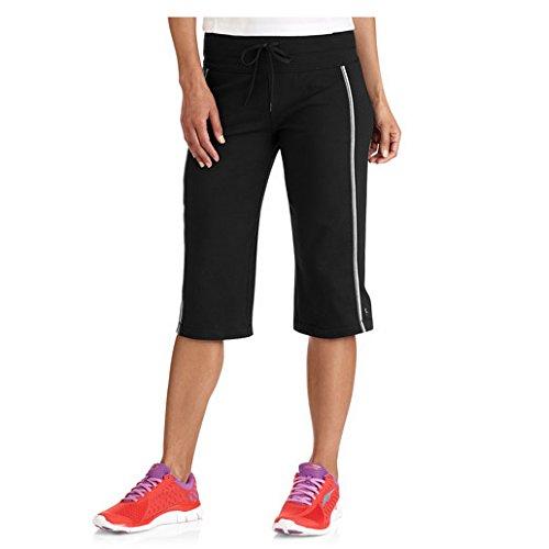 Danskin Now Womens Plus-Size Dri-More Core Piped Bermuda Shorts (2X Plus, Black)