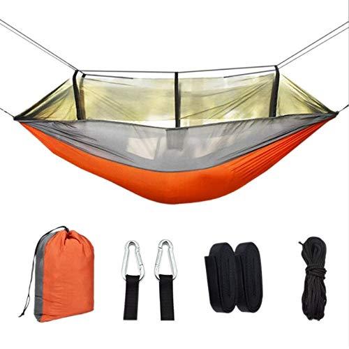 WXQHYD 260 * 140cm Portable Hammock 1-2 Person 210T Nisi Spinning Outdoor Camping Hammock Anti-Mosquito Camping Mesh Hammock