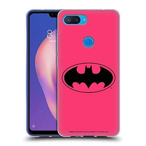 Official Batman DC Comics Pink Logos Soft Gel Case Compatible for Xiaomi Mi 8 Lite/Mi 8X