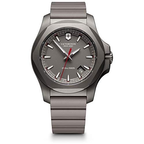 Victorinox Herren Analog Quarz Uhr mit Kautschuk Armband 241757