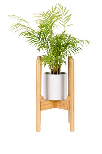 LAEKNA Premium Bamboo Plant Stand – Adjustable Bamboo Plant Holder, Mid Century Modern Design, Indoor Plant Stand, Fits 8 9 10 11 12 Inch Pots, 15 Inches Tall (Pot & Plant Not Included)