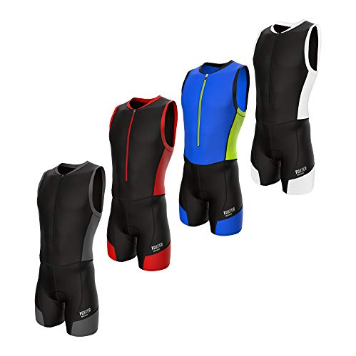 Foxter Active Men Triathlon Suit Tri Racing Suit Swimming Running Cycling...