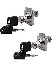 2 Pack Enkele Swing Glazen Kast Showcase Deurslot Verchroomd Display Glas Kast Lock Afzonderlijke Sleutel Geen Boren vereist