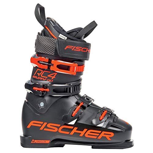 Fischer RC4 The Curv 130 PBV - heren skischoenen skilaarzen - U06518 - zwart/rood