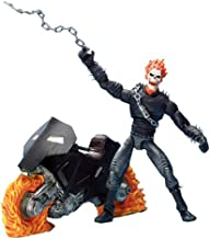 Marvel Legends Series III / 3 - GHOST RIDER with Bonus of 32 Page Comic Book and Collector Wall Mountable Display Stand