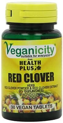 Veganicity Red Clover 40mg Isoflavones Women's Health Supplement - 30 Tablets