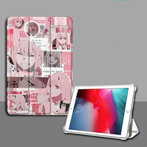 Compatible con Fundas para iPad,iPad Animación Darling In The Franxx Anti Caída Funda para Tableta Tri Fold iPad Air 1 / 2