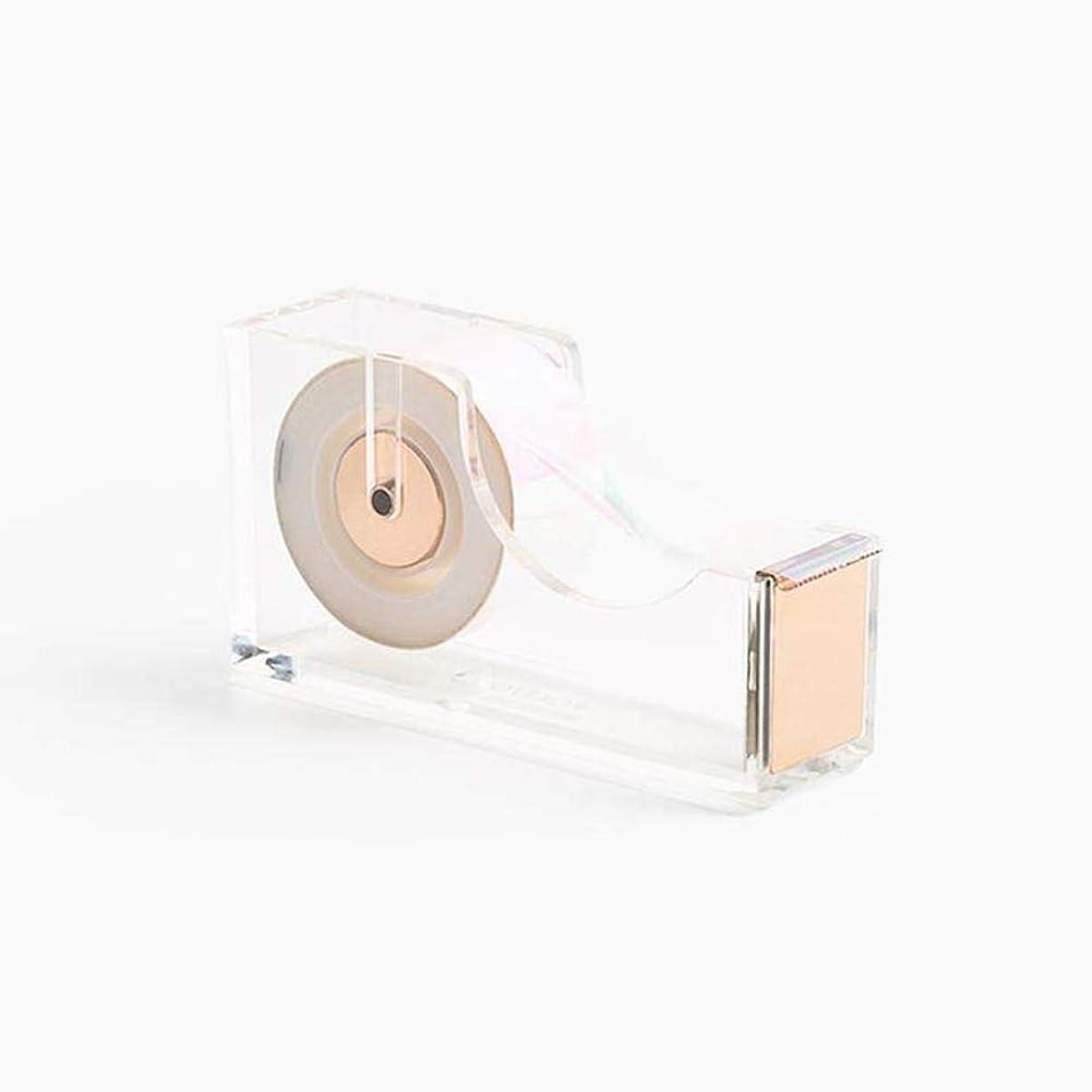 Acrylic/Lucite & Gold Tape Dispenser