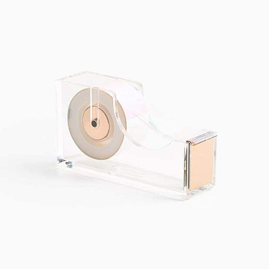 Acrylic/Lucite & Gold Tape Dispenser