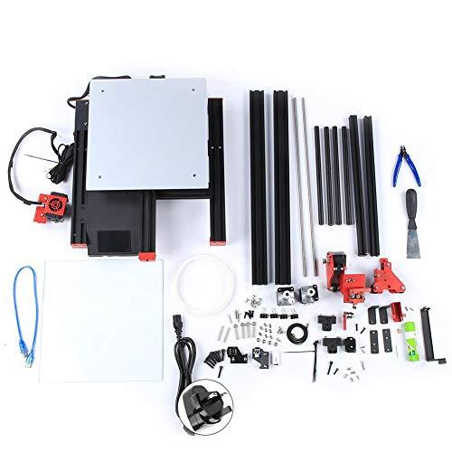 3D Printer, AC115v-240v 3D Printing Machine, High Accuracy 300x300x400mm 350W 0.2-0.8mm Nozzle 3D Printer Extruder(UK Plug)