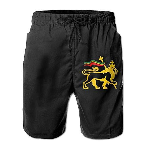 FunnyStar Rasta Lion of Judah Herren Strand Shorts Beach Swim Trunks Casual Trunks