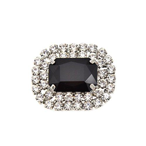 YNuth 1 Pieza de Clip de Zapatos Desmontable de Diamantes de Imitación de Color Negro