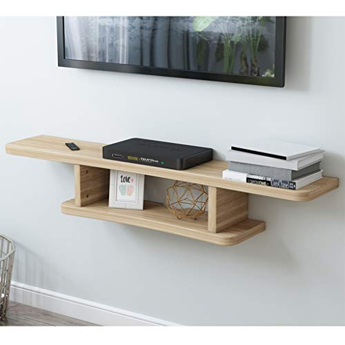 Wall Mounted Set-top Box Storage Shelf Floating Shelf TV meubel wandplank TV Cabinet TV Console TV Plank for Cable Box DVD-speler Opslag Shelf (Color : A(wood color))