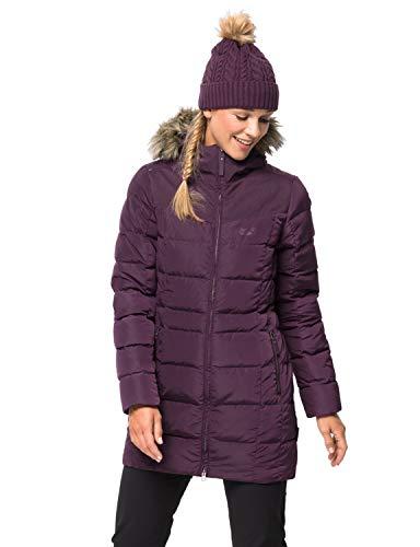 Jack Wolfskin Damen Baffin Island Coat Mantel, aubergine, S