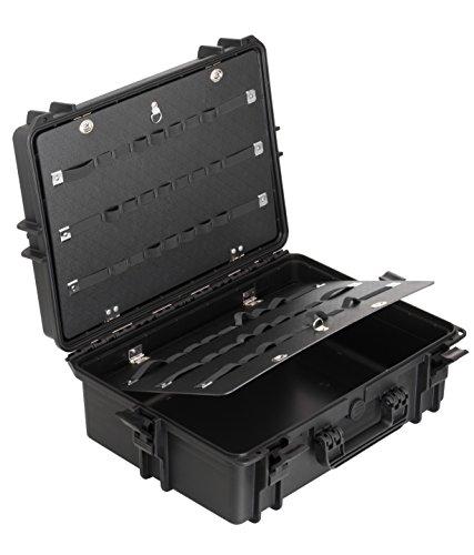 Max MAX505PU IP67, wasserdicht, strapazierfähig, wasser- und Materialaufnahmen mit Hartschale aus Kunststoff, Schutzhülle, Plektrum und Transit Würfelschaumstoff-Zupf-Koffer Werkzeugkoffer