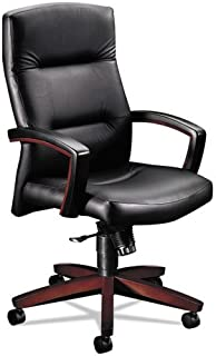 HON Park Avenue High-Back Leather Chair, 44 1/2