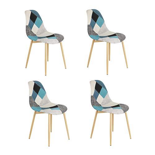 Un juego de 4 sillas de comedor de estilo moderno nórdico de...
