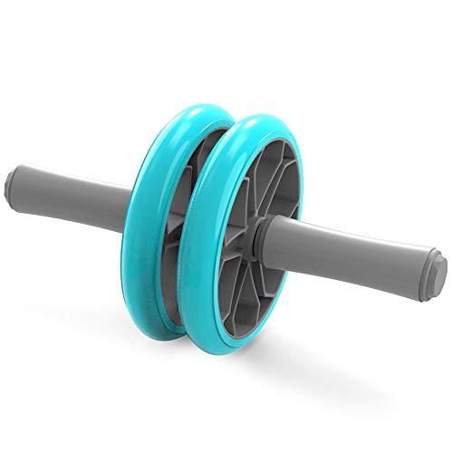 SMGPY 3-In-1 AB Roller Bauchtrainer AB Wheel Set Inkl. Bauchtrainer, 2 Liegestützgriffe, Handtrainer, Für Fitness Bauchmuskeltraining Muskelaufbau Bauchroller,Blau