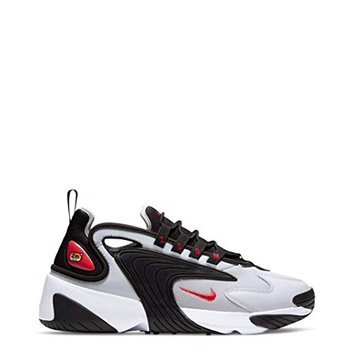 Nike Herren Zoom 2K Laufen, Negro/Rojo Pista/Grey Fog/Blanco, 43 EU