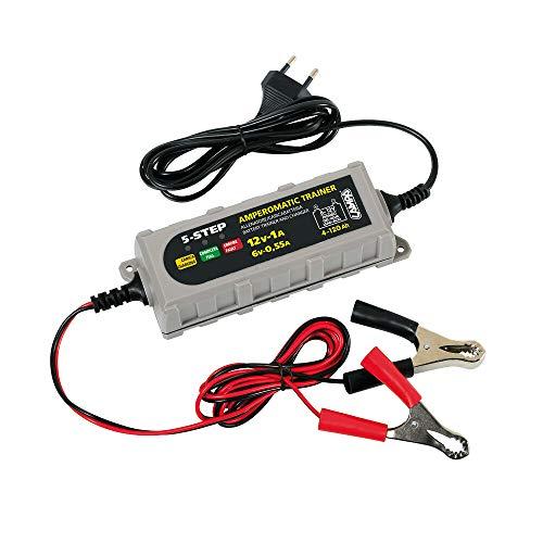 Lampa 70178 Amperomatic Trainer, caricabatteria Intelligente, 6/12V - 0,55/1A