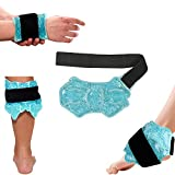 Ankle/Sport Foot Ice Therapy Wrap,Hot Cold Ice Gel Pack with Adjustable Brace
