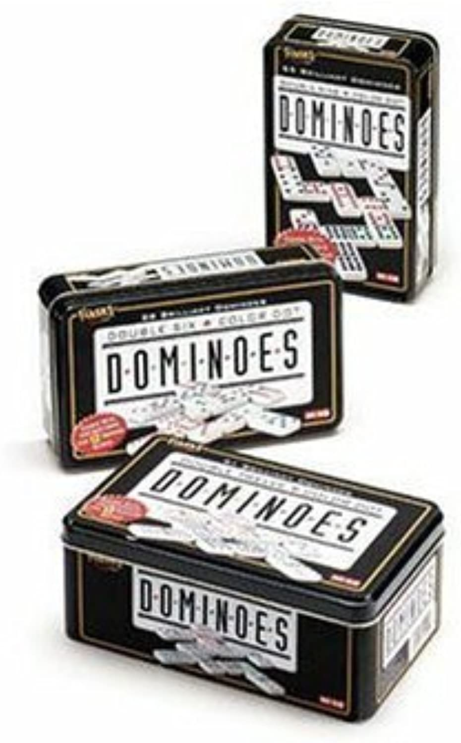 marca famosa Fundex Double 9 9 9 Dominoes in Tin  ahorra hasta un 80%