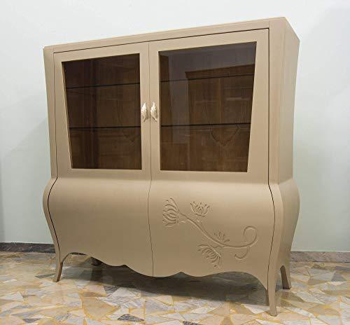 Ebanisteria Gambella - Librería de marfil con decoraciones
