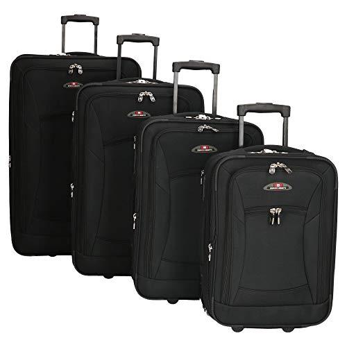 Enrico Benetti - Set di 4 valigie trolley – Colore: nero