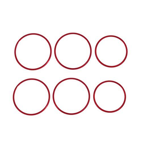 FUFU 6 unids de ajuste de asiento de automóvil Interruptor de ajuste de la perilla Tapa Red Ajuste rojo para Mercedes Benz A B GLA CLASE W176 W117 W246 C117 A180