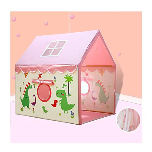 Play Tents Teepee Tent Kids Home Dinosaur Children's Tent Indoor Princess Girl Game House Boy Baby Child Bed Sleeping House Foldable Storage (Color : Pink, Size : 100 * 125 * 135cm)