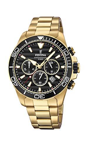 Festina Herren Chronograph Quarz Uhr mit Edelstahl Armband F20364/3