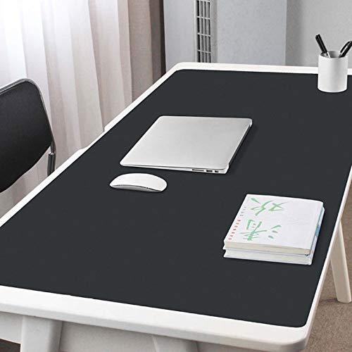 Desk Pad Protector Office Desk Mat,Waterproof Pu Leather Desk Writing Mat,Ultra Thin Non Slip Large Mouse Pad Desk Blotter for Home Office-Black 100x60cm/39x24inch