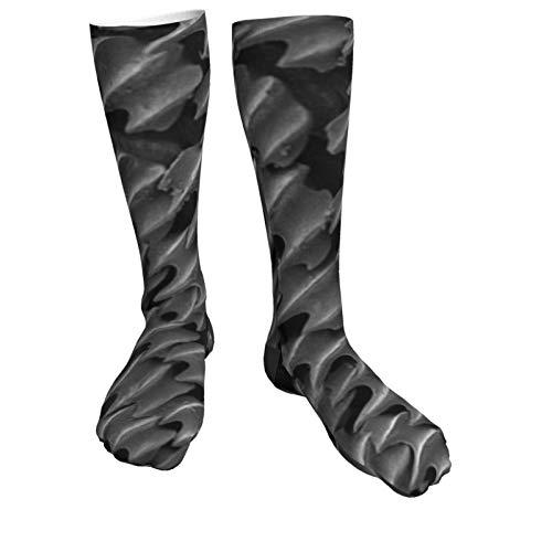 Compression Socks Women & Men Shark Skin Microscope Heel Thick Socks - Best for Running,Athletic Sports,Flight Travel, Pregnancy, Soccer