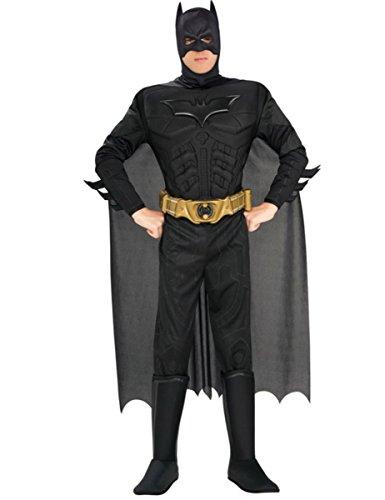 KULTFAKTOR GmbH Batman-Kostüm für Herren Superheld Lizenzware schwarz L
