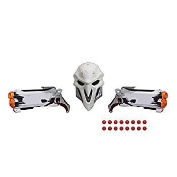 Overwatch Reaper  Wight Edition  Collector Pack with 2 Nerf Rival Blasters 1 Reaper Face Mask and 16 Overwatch Nerf Rival Rounds