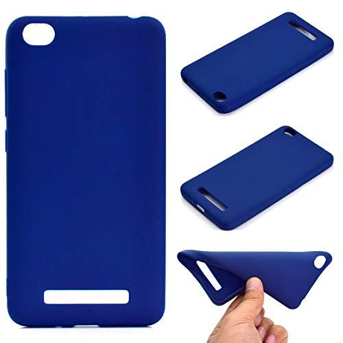 OUJD Funda Xiaomi Redmi 4A, Carcasa Xiaomi Mi 4A Silicona Gel, Mate Case Ultra Delgado TPU Goma Flexible Cover para Xiaomi Redmi 4A- Azul