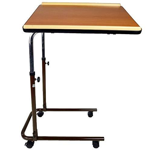 Mobiclinic, Modell Sierra, Multifunktions Beistelltisch, mobiler Betttisch, Holz, beistelltisch Bett, höhenverstellbarer und schwenkbarer Rolltisch, Leichtgewicht, kleiner und klappbarer Tisch