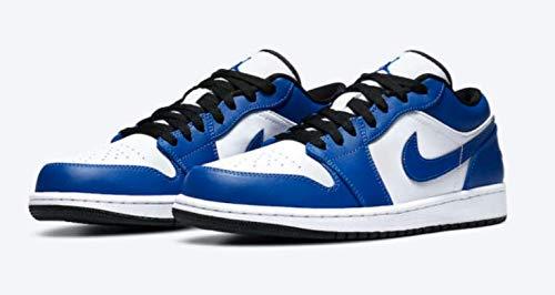Nike Air Jordan 1 Low, Zapatillas de bsquetbol Hombre, White Hyper Royal Black, 44 EU
