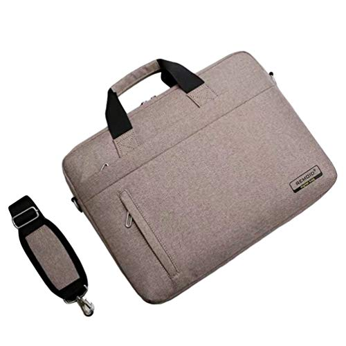WanYangg Multifunktions Handtasche Laptoptasche Damen Wasserabweisend Laptop Business Umwandelbar Rucksack Laptophülle Messenger Bag Satchel Khaki 14 inch